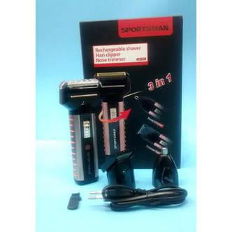 Триммер,машинка для стрижки  3 in 1 Sportsman  Sm-501 код 501 АКБ, фото 2