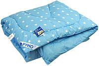 Одеяло шерстяное особо теплое детское 140х105 Руно Blue