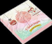 """Коробочка с конфетами ручной работы """"С новым годом и рождеством""""."""