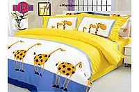 Постельное белье 604 «Жирафы».евро комплект