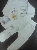 Кофточка,ползунки и шапочка для новорожденных