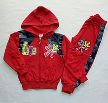 Спортивный костюм для девочки ( тонкий флис)  на 2-5 лет. В ростовке 4 шт.