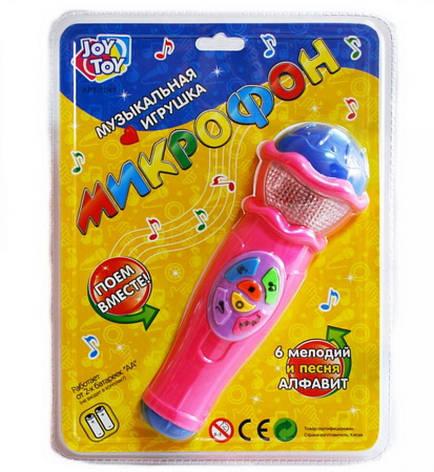 Микрофон детский  6 мелодий, песня, алфавит, фото 2