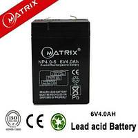 Аккумулятор батарея Matrix 6V 4.0Ah NP4.0-6