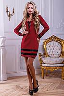 Красивое короткое платье с вставками из пайеток 44-48 размера, фото 1