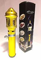 Мини бахурница (газовая) золотая