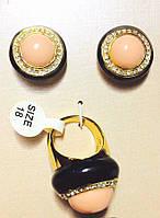 Комплект кольцо+серьги 592