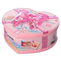"""Подарок для девочки от 3-х лет заводная Шкатулка 9213-1 """"Сердце"""" Музыкальная розовая Royaltoys"""