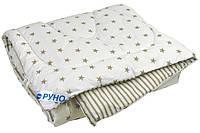 Одеяло шерстяное особо теплое детское 140х105 Руно Grey
