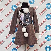 Детское теплое платье для девочек оптом B.B.W kids.  ИТАЛИЯ, фото 1
