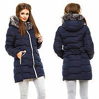 Зимняя куртка - пальто женская TINA цвет Темно - Синий