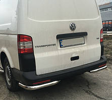 Защита заднего бампера Углы на Volkswagen Transporter T5 \ T6 (2003-2015)