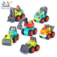 Набор мини-техники huile toys Рабочая машинка 3116b 12 штук