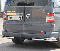 Защита заднего бампера Двойные углы на Volkswagen Transporter T-6 (с 2010--)