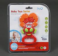 Погремушка - прорезыватель Baby Toys Рак на листе.