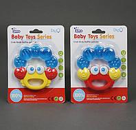 Погремушка - прорезыватель Baby Toys  Крабик 2 вида, на листе.