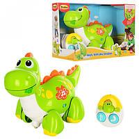 Игрушка динозавр на р/у Win Fun (ездит вперед-назад, музыка, свет) на батарейке в коробке от 18 месяцев