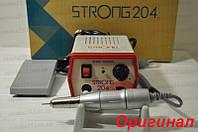 Фрезер для маникюра, машинка для полировки ногтей, микромотор Strong - 204/120. Мощность - 64 Вт. Оригинал!