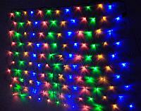 Гирлянда светодиодная LED сетка на окно 120 л, 1.5х1.5 м (9 режимов)
