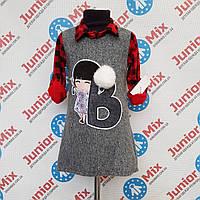Детская  теплая туника  для девочек оптом B.B.W. kids, фото 1