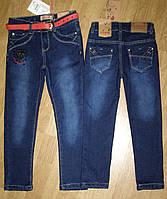 Теплые джинсы на флисе для девочек 110-116р
