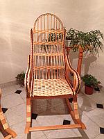 Розборочное кресло-качалка из лозы
