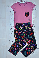 Женский комплект-пижама футболка штаны