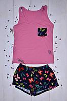 Женская одежда для дома и сна, комплект майка шортики