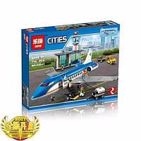 """Конструктор Lepin 02043 (аналог Lego City 60104) """"Пассажирский терминал в аэропорту"""", 718 дет."""
