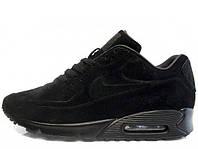 Зимние мужские кроссовки Nike Air Max 90VT FUR Black, на меху