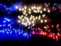 Гирлянда уличная светодиодная 100 LED 10м черный провод. Для использования на улице( дом, кафе).