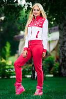 Спортивный костюм  Горошек / красный / голубой, фото 1