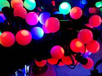 Светодиодная гирлянда на ёлку Шарики (маленькие) 6м (50Led). Разные цвета. Украсит любую ёлку.