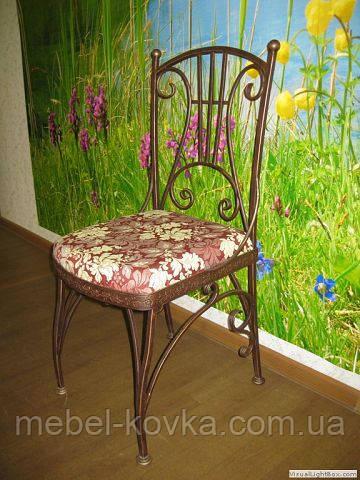Кованый стул со спинкой  18
