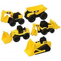 Toy State Набор из 5 машинок строительной техники Caterpillar CAT Mini Machines Vehicle Playset