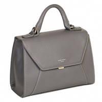 Прямоугольная сумка-бочонок с клапаном 5604-2 Темно-серый