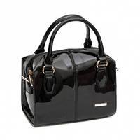 Маленькая лаковая сумка-бочонок 5208-3 Черный
