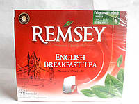 Remsey English breakfast tea чай черный Английский завтрак 75 пакетов