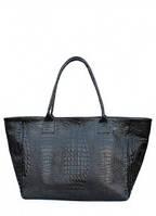 Кожаная сумка POOLPARTY Desire Черный poolparty-desire-croco-black