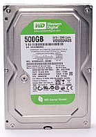 Жесткий диск для компьютера 500Gb Western Digital Caviar Green, SATA2, 32Mb, 5400 rpm (WD5000AADS) (Ref)