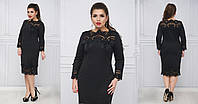 Женское платье из итальянского трикотажа, 50-60р черное
