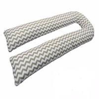 Подушка для беременных KIDIGO U-образная Зигзаг (с наволочкой) PDV-U2