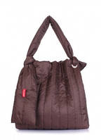 Дутая сумка POOLPARTY Zefir Коричневый zefir-brown