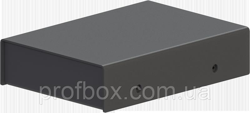 Корпус металевий MB-44 (Ш75 Г105 В25) чорний, RAL9005(Black textured)