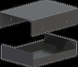 Корпус металевий MB-44 (Ш75 Г105 В25) чорний, RAL9005(Black textured), фото 2