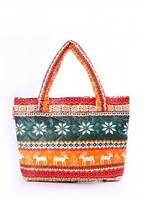 Дутая сумка POOLPARTY с оленями Оранжевый pool-69-green-orange