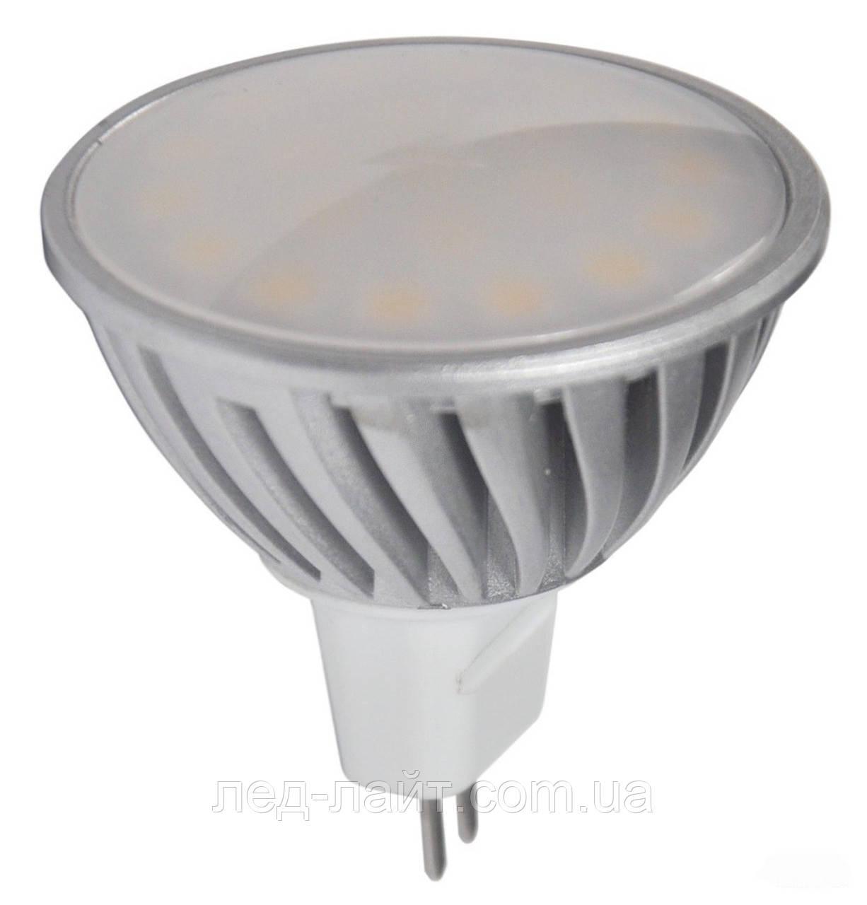 Лампа светодиодная MR16 5Вт 4100K 220В GU5.3