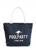 Джинсовая сумка POOLPARTY Синий pool-7-jeans