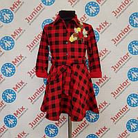 Оптом детское платье в клеточку для девочек