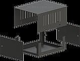 Корпус металевий MB-1 (Ш100 Г125 В60) чорний, RAL9005(Black textured), фото 2